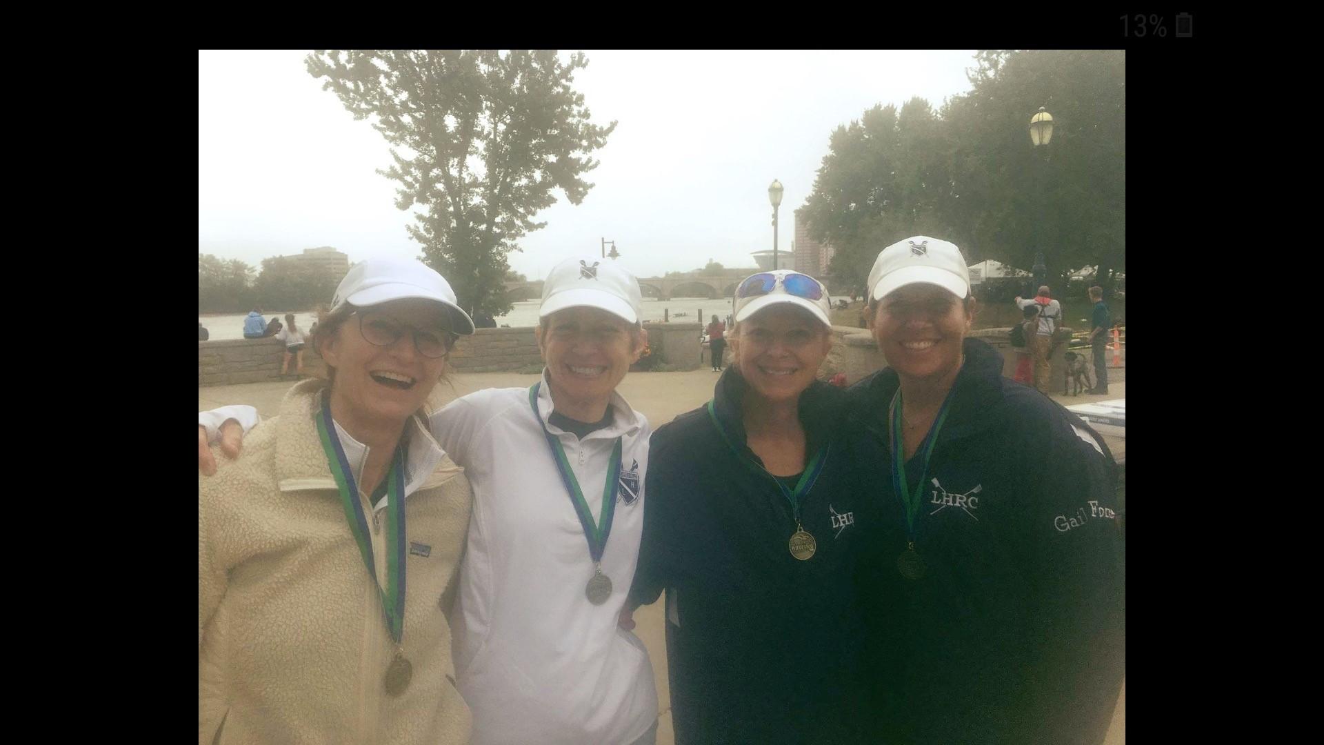 Women's medal winning 4x - Mary Ewing, Sue Edelstein, Amy Dyer, Gail Zaharek.