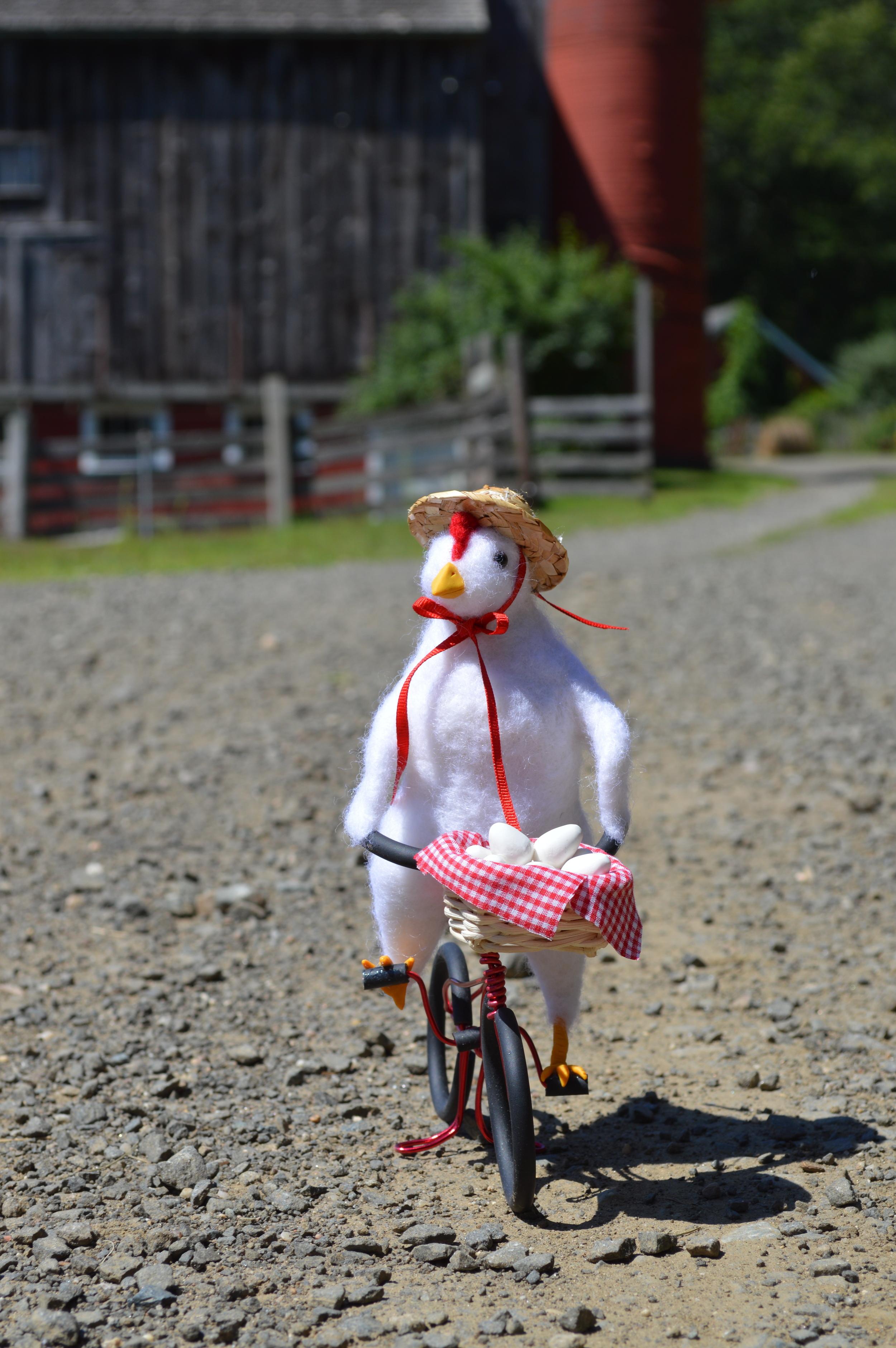 Henrietta Delivering Eggs
