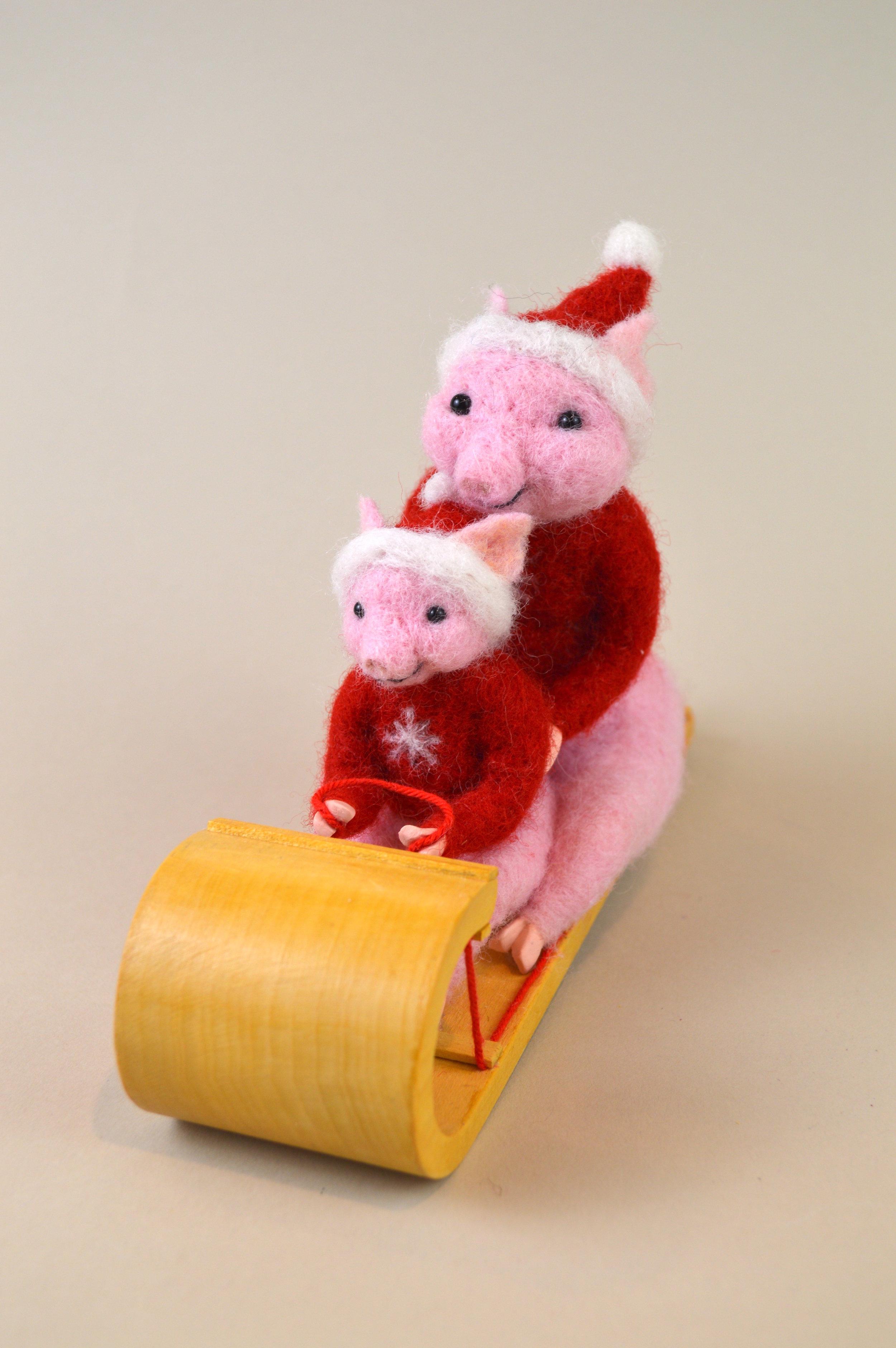 Piggies on a Toboggan