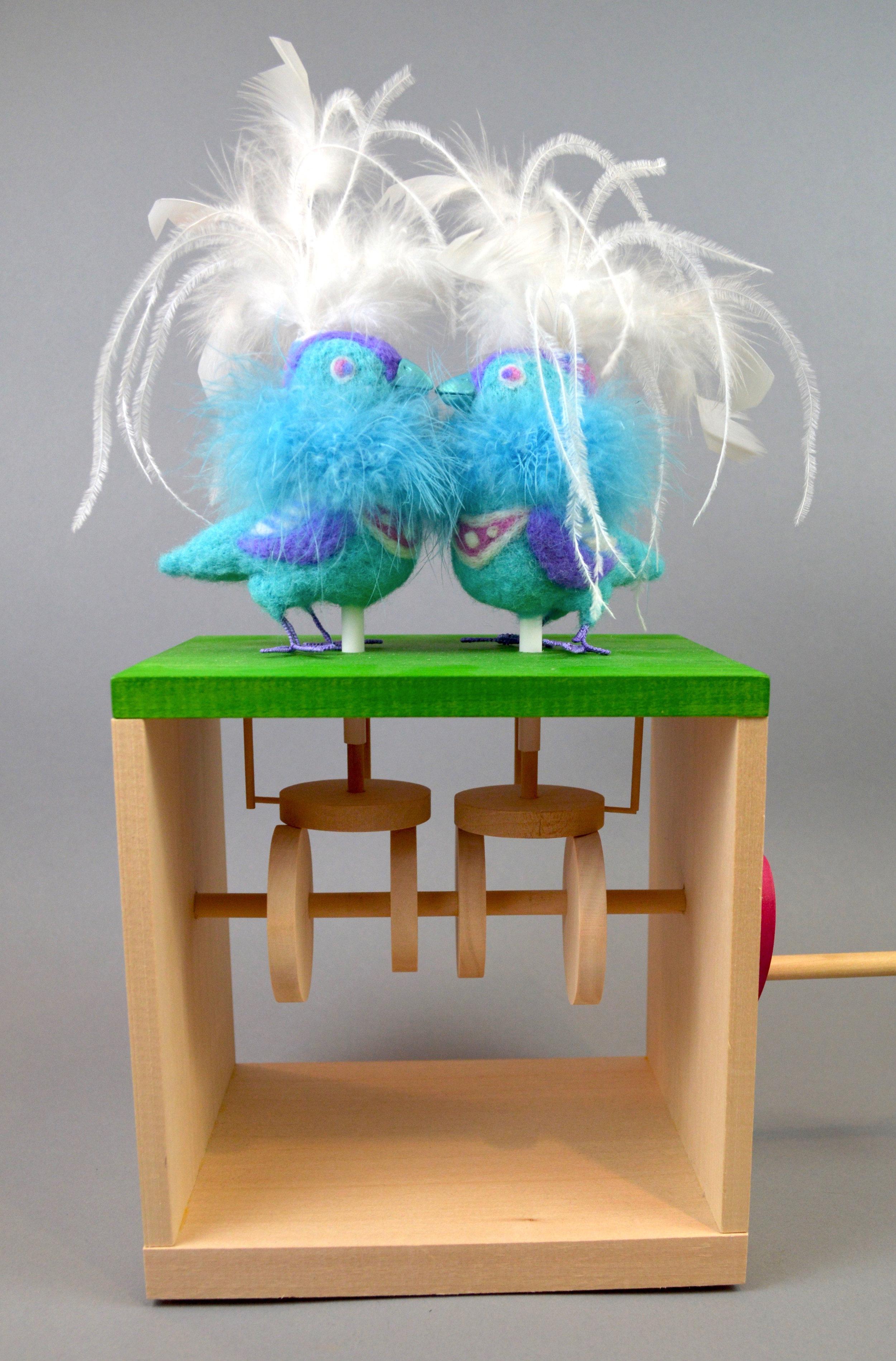 Kissing Lovebirds Automaton.JPG