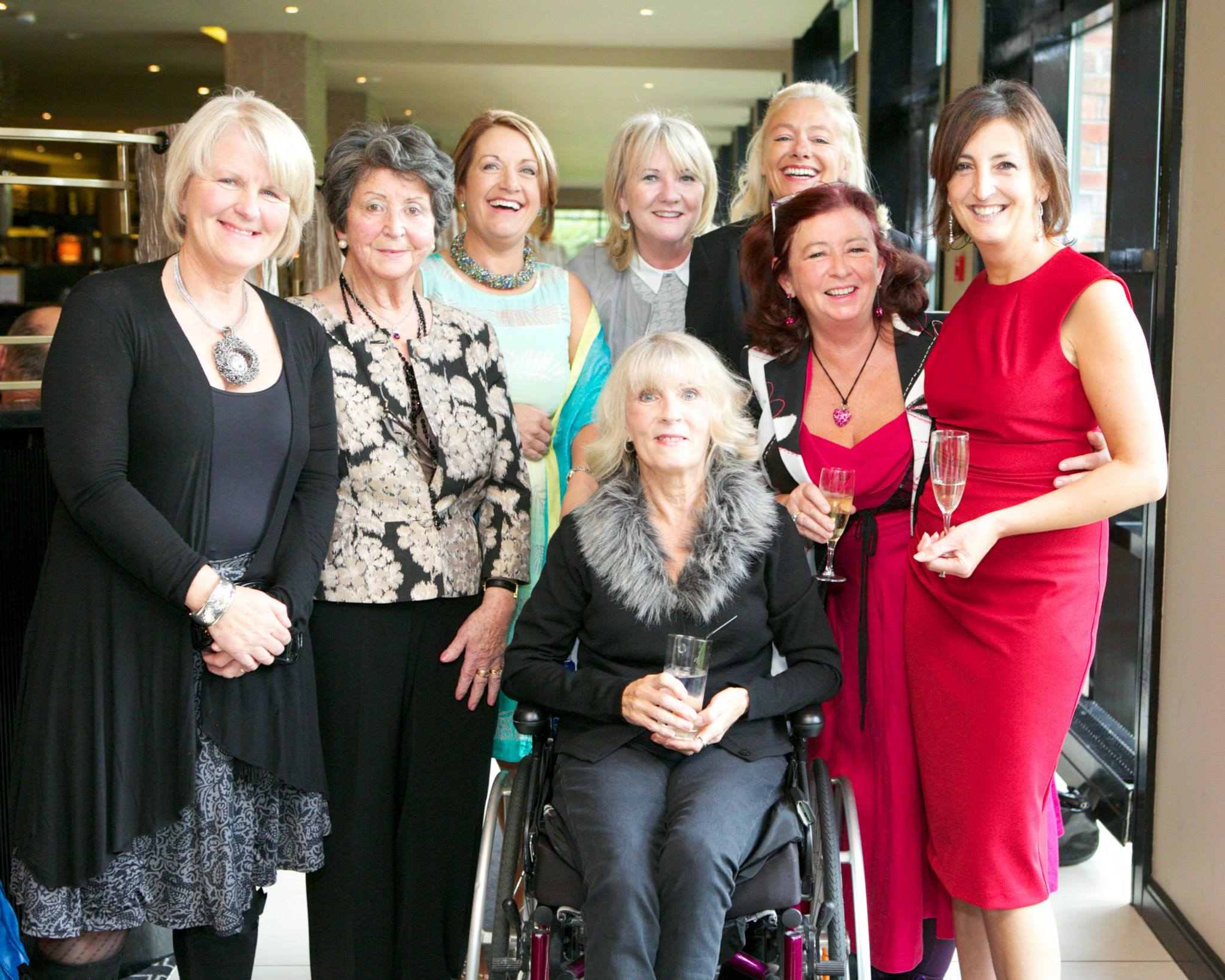 Pictured at the 11th Annual Aer Lingus Autumn Lunch in aid of Cork ARC are from left: Mari Riese, Mari Cournan, Maureen Mortimer, Jan Power, Martha Pringle, Sue Horgan, Carol Anne Crosbie and Maria O'Mahony all from Kinsale. Photo. Donagh Glavin