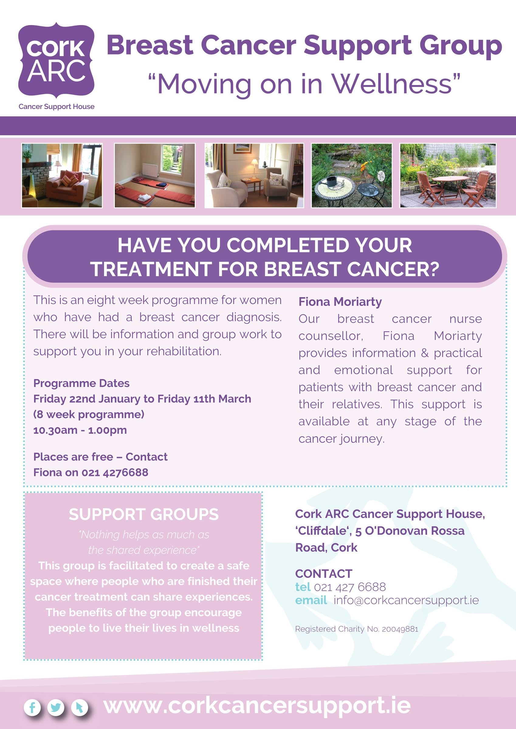 Moving on in Wellness - Breast Cancer Support Group at Cork ARC