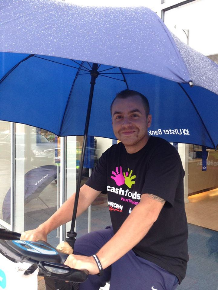 The Northern Irish weather isn't putting off our fundraisers at Holywood branch, Co. Down..jpg