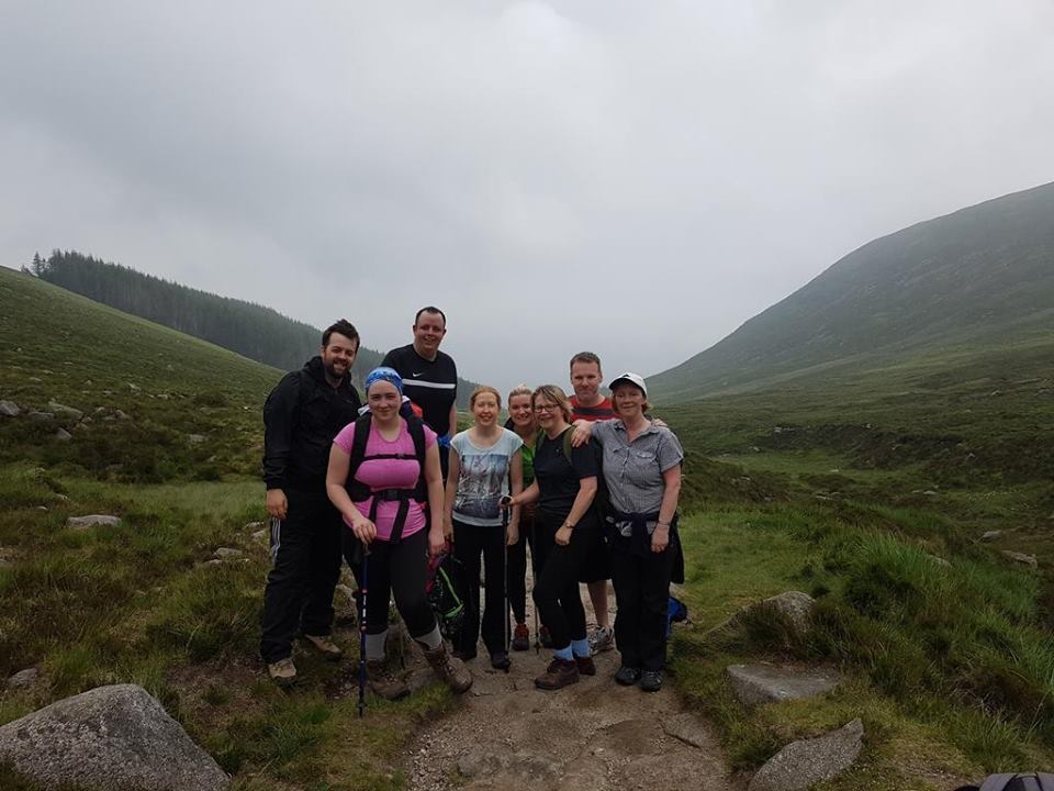 The wondeful team from Ulster Bank Armagh scaled new heights on Saturday 11th June, climbing Slieve Donard to raise money for One Week in June.jpg