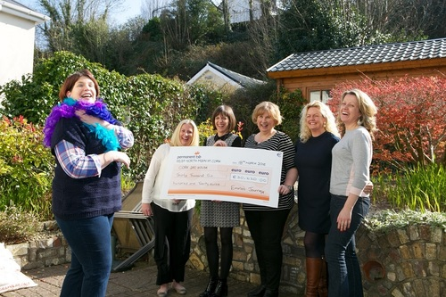 Emma Crowley and the 'Emma's Ball' committee celebrate raising over €30,000 for Cork ARC.