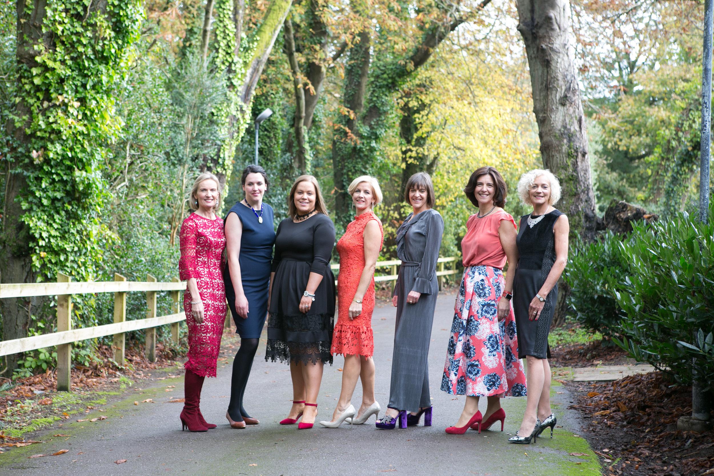 Organisers; Marguerite Guerin, Joanne McCarthy, Rachel Hill, Deirdre Whelan, Hilary Sullivan, Rachel Keating and Monica Barrett at the Annual Aer Lingus Autumn Lunch in aid of Cork ARC Cancer Support House.