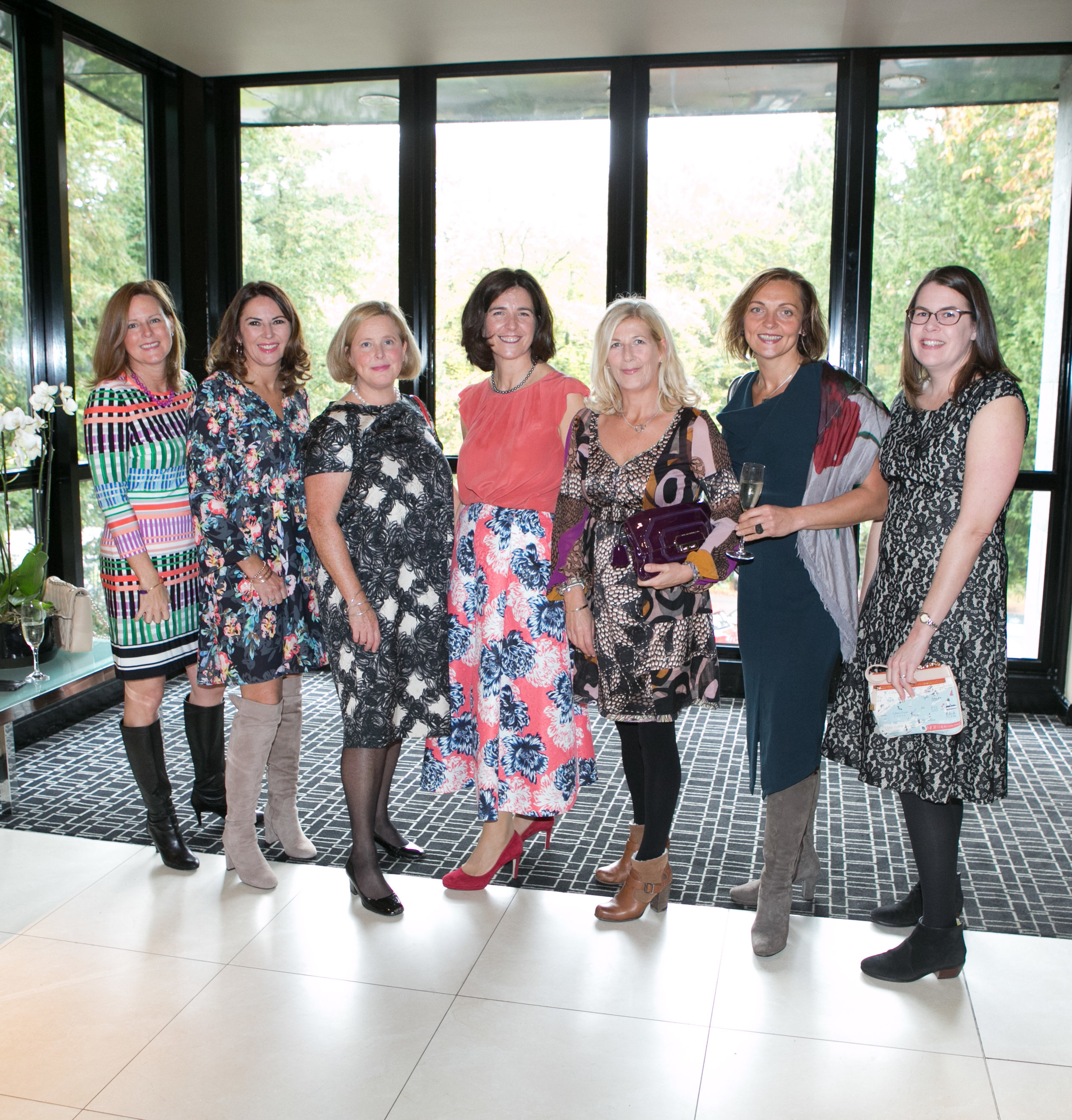 Kinsale Ladies; Kara Donoghue, Anne Gavin, Catherine Wilson, Rachel Keating, Janice Coomey, Tatyana Volkada and Courtney Collins at the Annual Aer Lingus Autumn Lunch in aid of Cork ARC Cancer Support House.