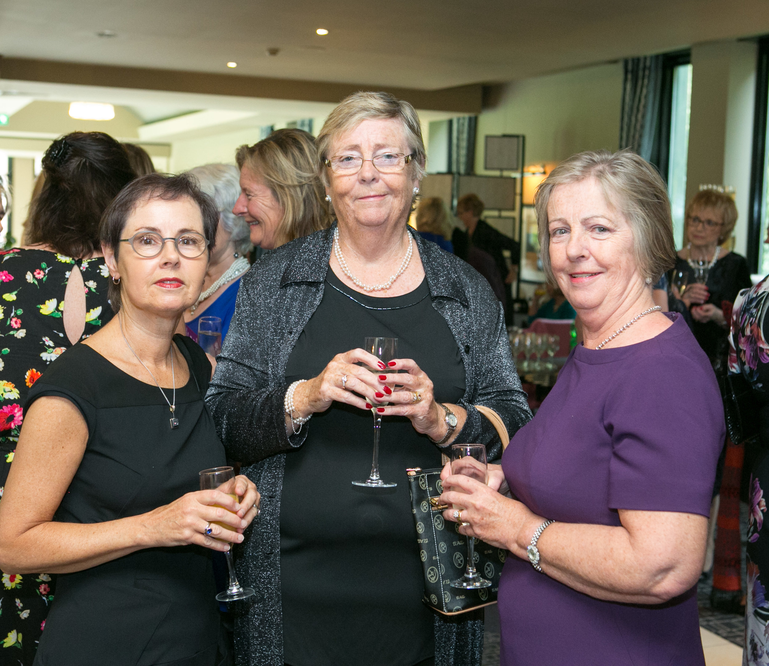 Katie O'Donovan, Douglas, Anne Murphy and Marie Fitzgerald, Bishopstown attending the Annual Aer Lingus Autumn Lunch in aid of Cork ARC Cancer Support House.