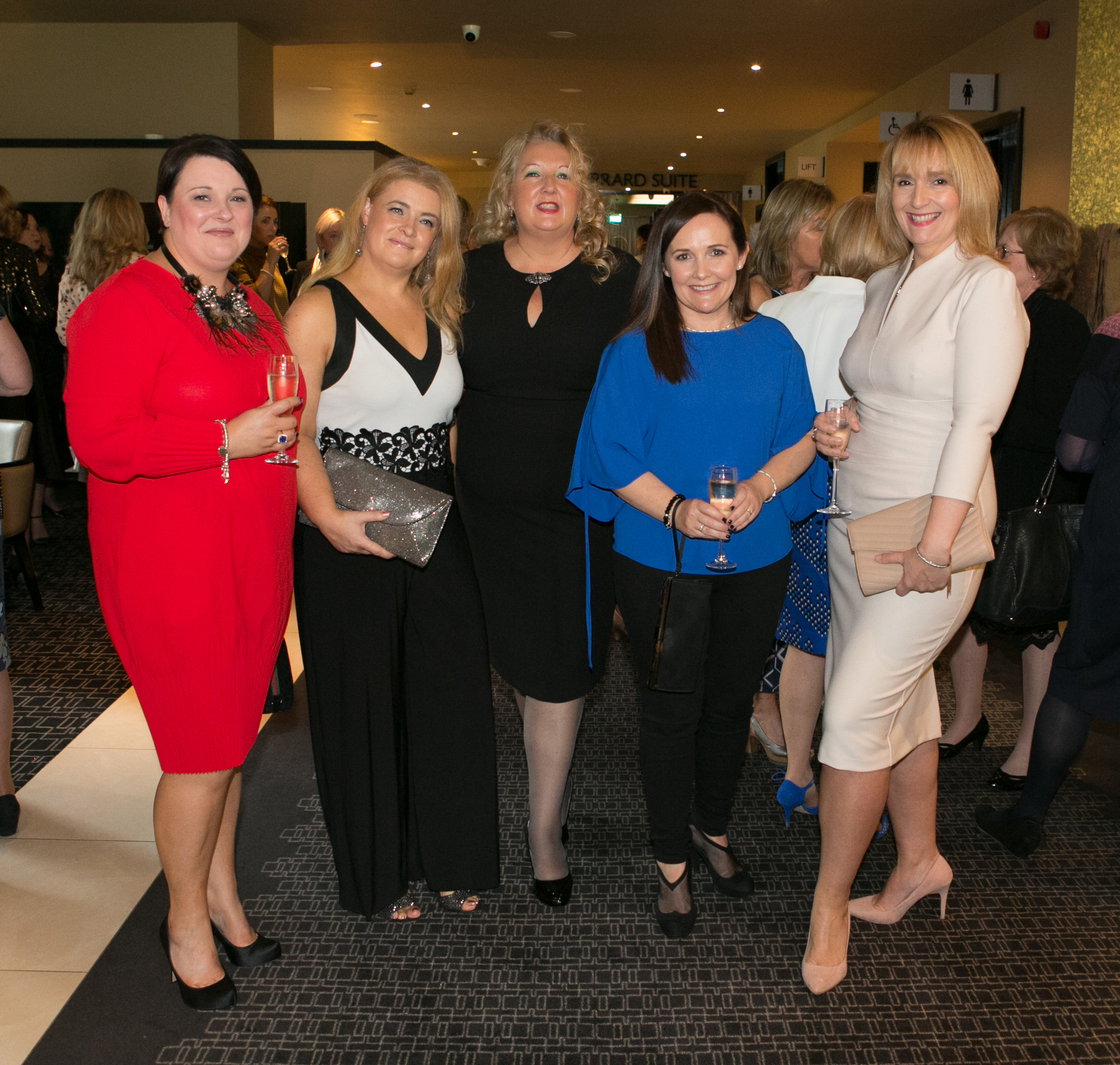 Anne Desmond, Glanmire, Jackie Coakley, Cobh, Suzanne McMahon, Cobh, Nessa Barrett, Cobh and Anne McSweeney, Mayfield at the Annual Aer Lingus Autumn Lunch in aid of Cork ARC Cancer Support House at Maryborough House.