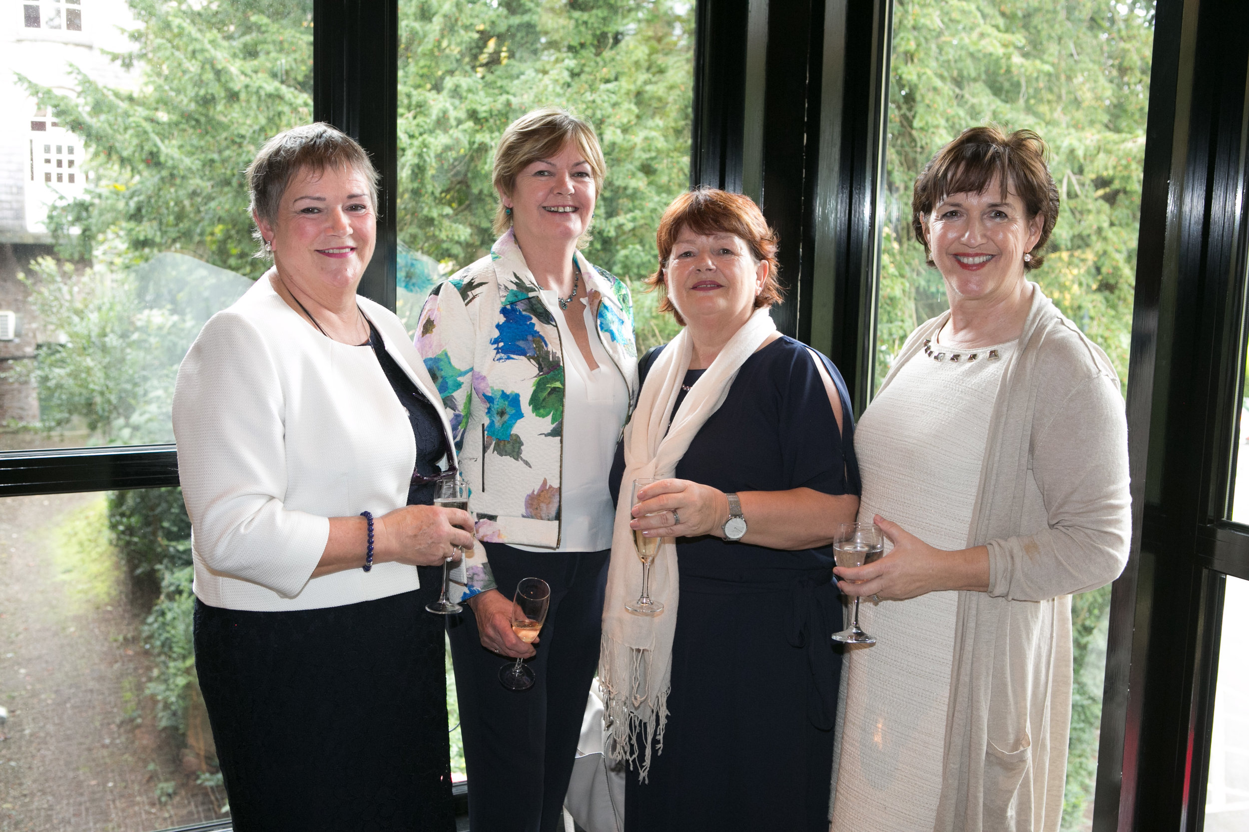 Siobhan Coughlan, Ballinlough, Norma Harrington, Beaumount, Carol Harrington, Beaumount ansd Betty McNulty, Ovens at the Annual Aer Lingus Autumn Lunch in aid of Cork ARC Cancer Support House.