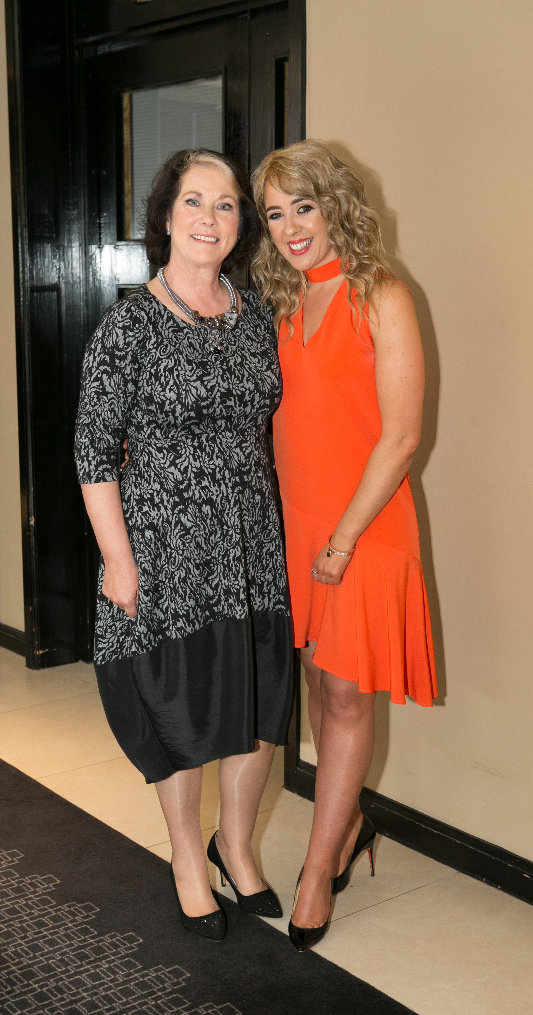Aer Lingus staff members; Geraldine Gokul and Jo O'Riordan attending the Annual Aer Lingus Autumn Lunch in aid of Cork ARC Cancer Support House.