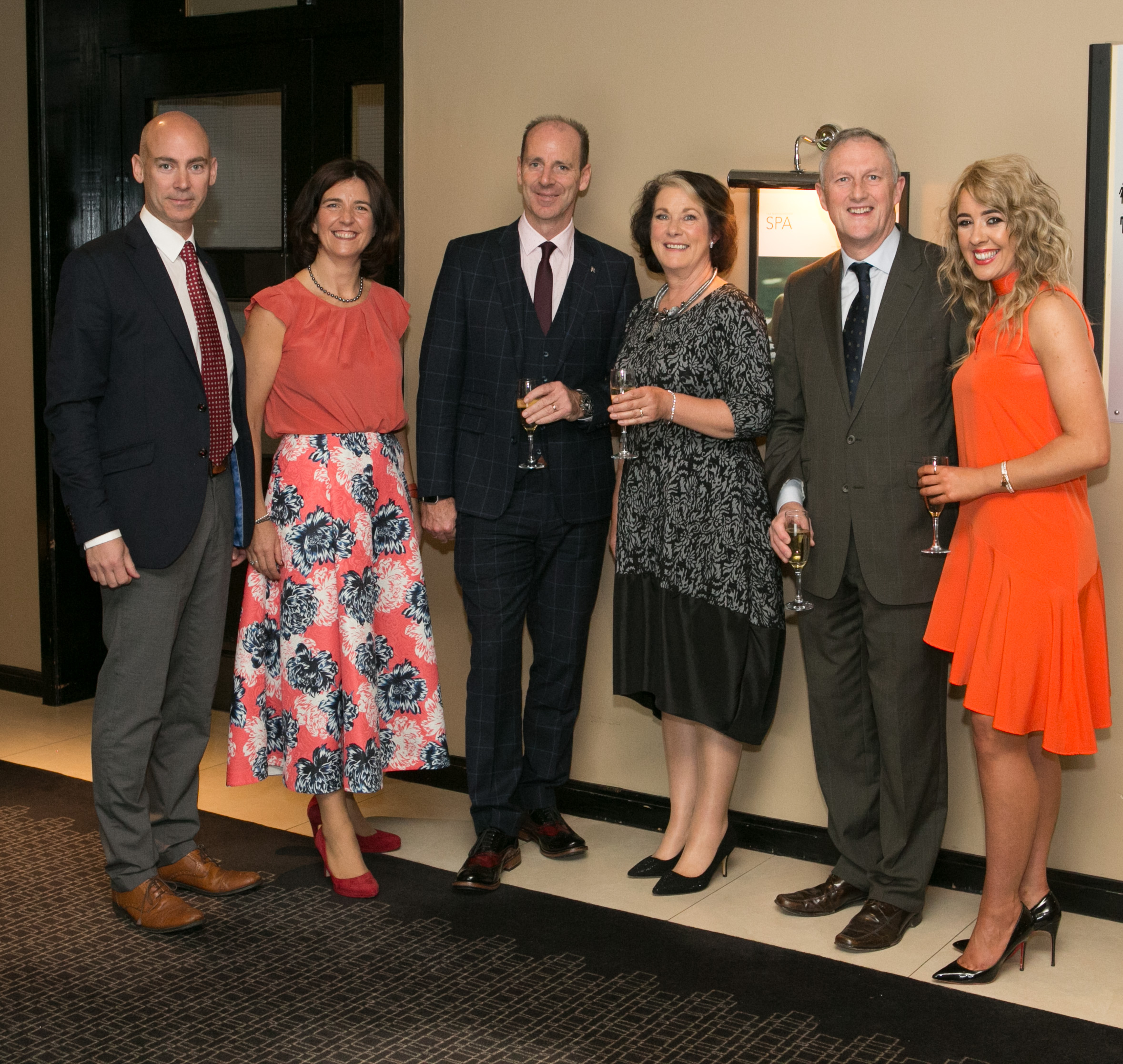 Aer Lingus staff members; Seamus Cooke, Rachel Keating, Peter O'Shea, Geraldine Gokul, John Clancy and Jo O'Riordan attending the Annual Aer Lingus Autumn Lunch in aid of Cork ARC Cancer Support House.