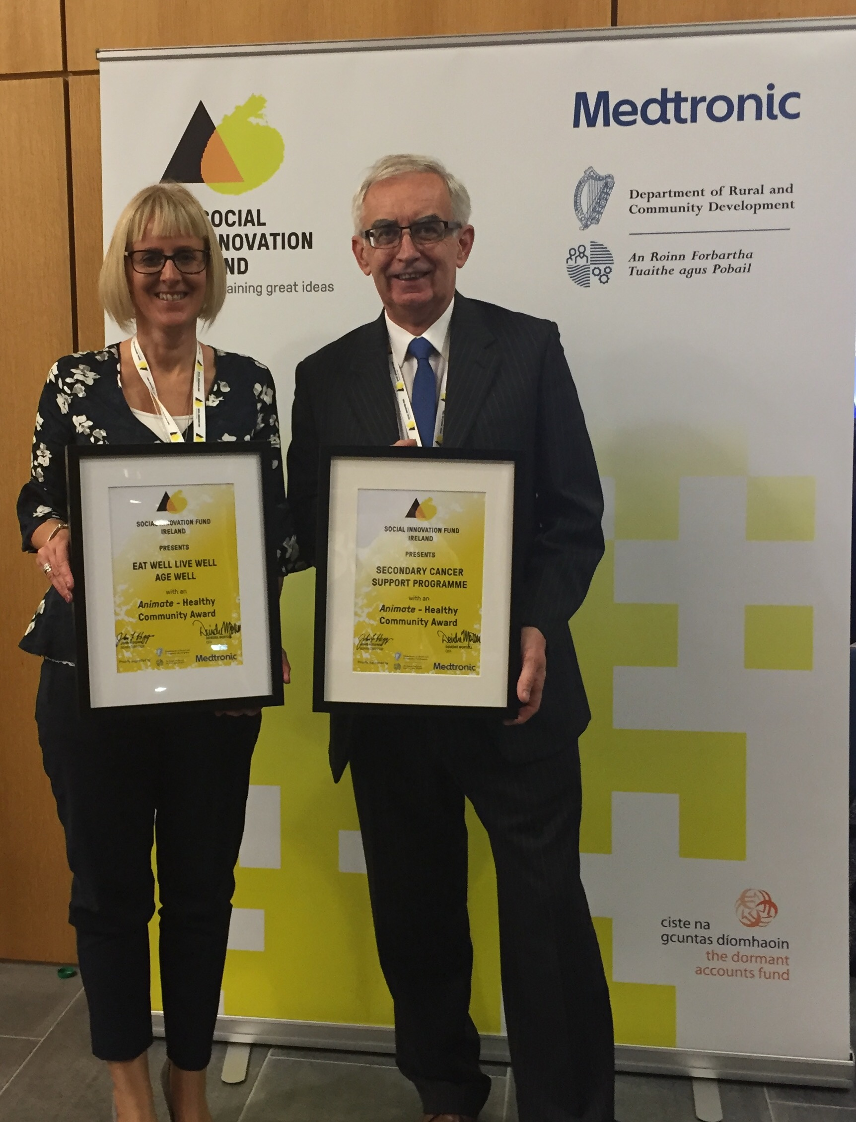 Cork ARC volunteer Michael Healy pictured with Head of Development at Cope Galway, Sharon Fitzpatrick.