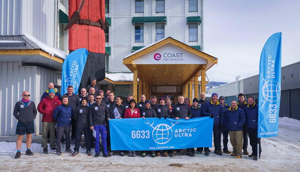 Patrick O'Toole and the 6633 Arctic Ultra contingent are ready to set off on 8th March, 2018