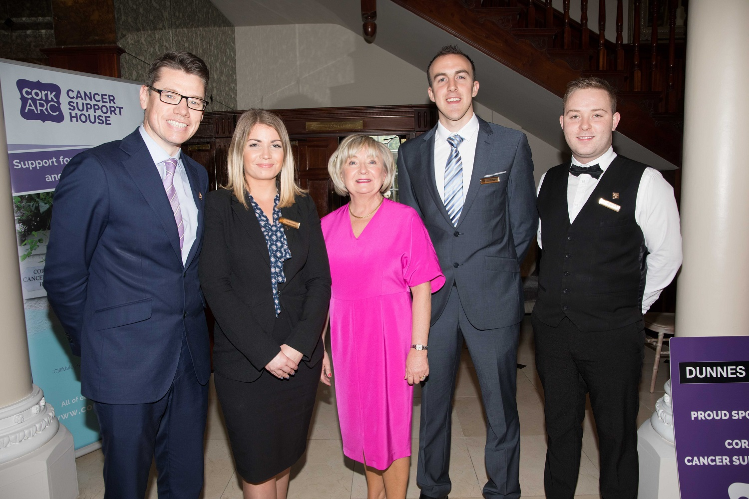 TJ Mulcahy, Erin McCluskey, Hayfield Manor, Letitia Clynch, Dunnes Stores, Evander Brennan and Kenneth Ivers, Hayfield Manor