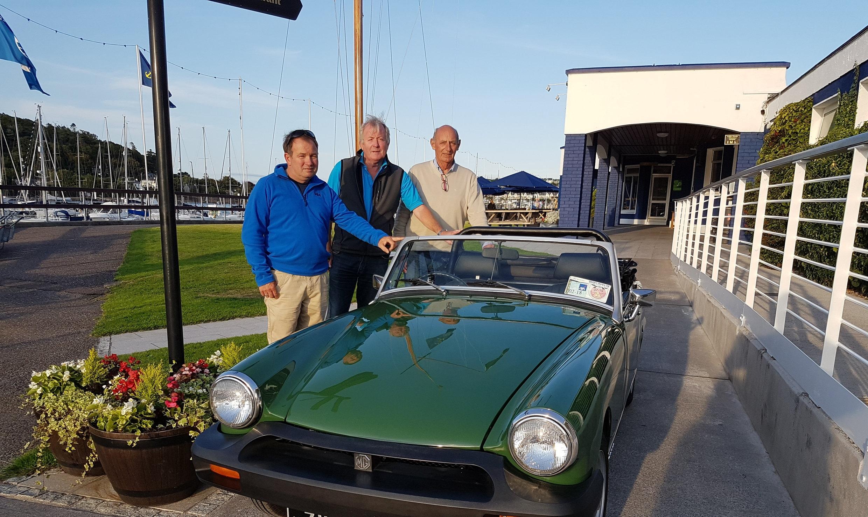 L-R Mark Bushe (Chairman), Mark Ginn (PRO) and Roy Hanan (Auction Co-ordinator), members of Crosshaven Veteran, Vintage and Classic Motor Club.