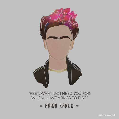 Frida-Kahlo-illustration-rachel-roe
