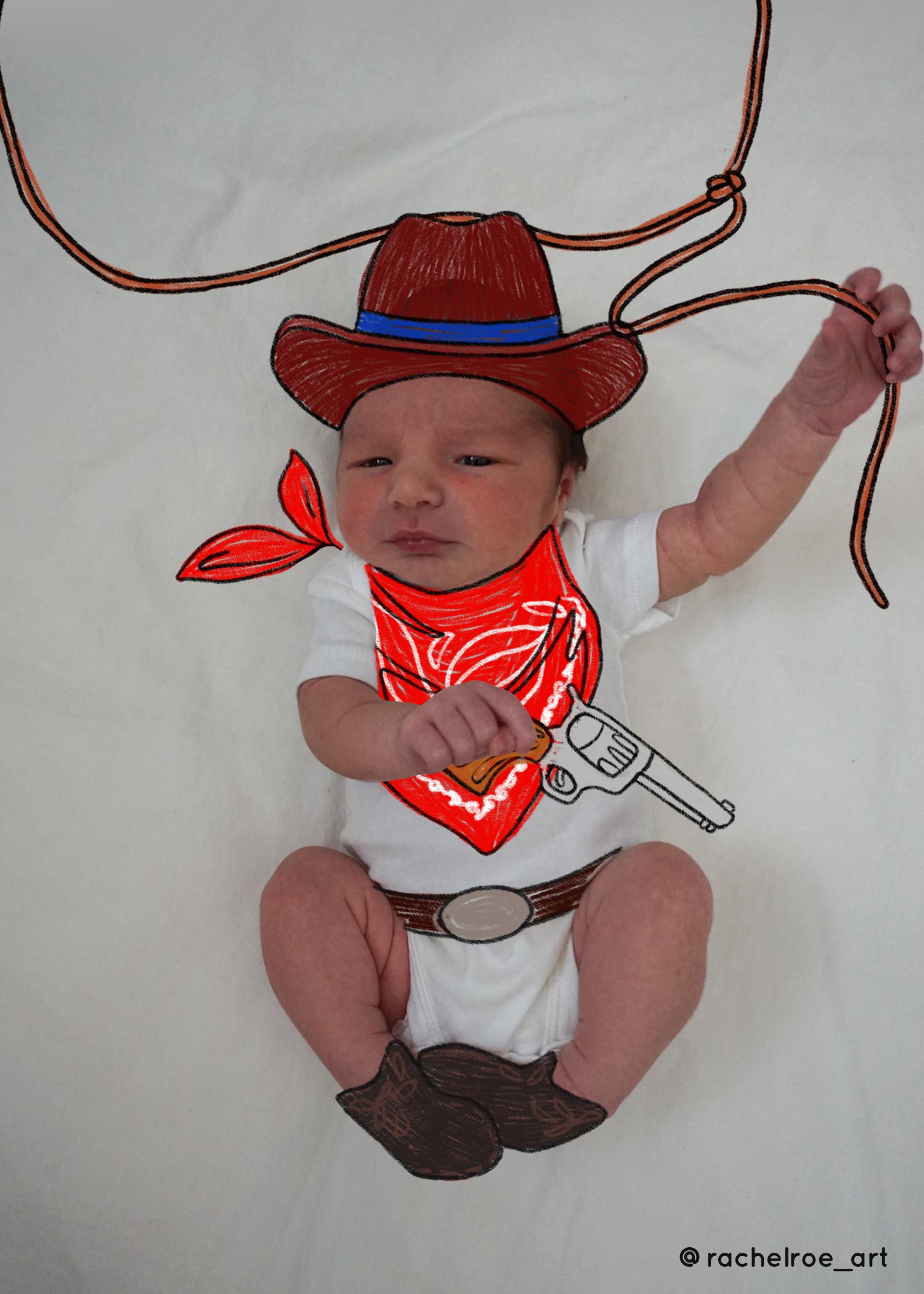 Baby Announcement Illustration_Cowboy_Rachel Roe.jpg