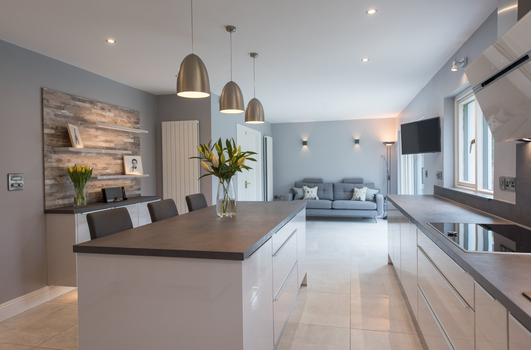 Modern open-plan kitchen, living and dining space — Evoke ...