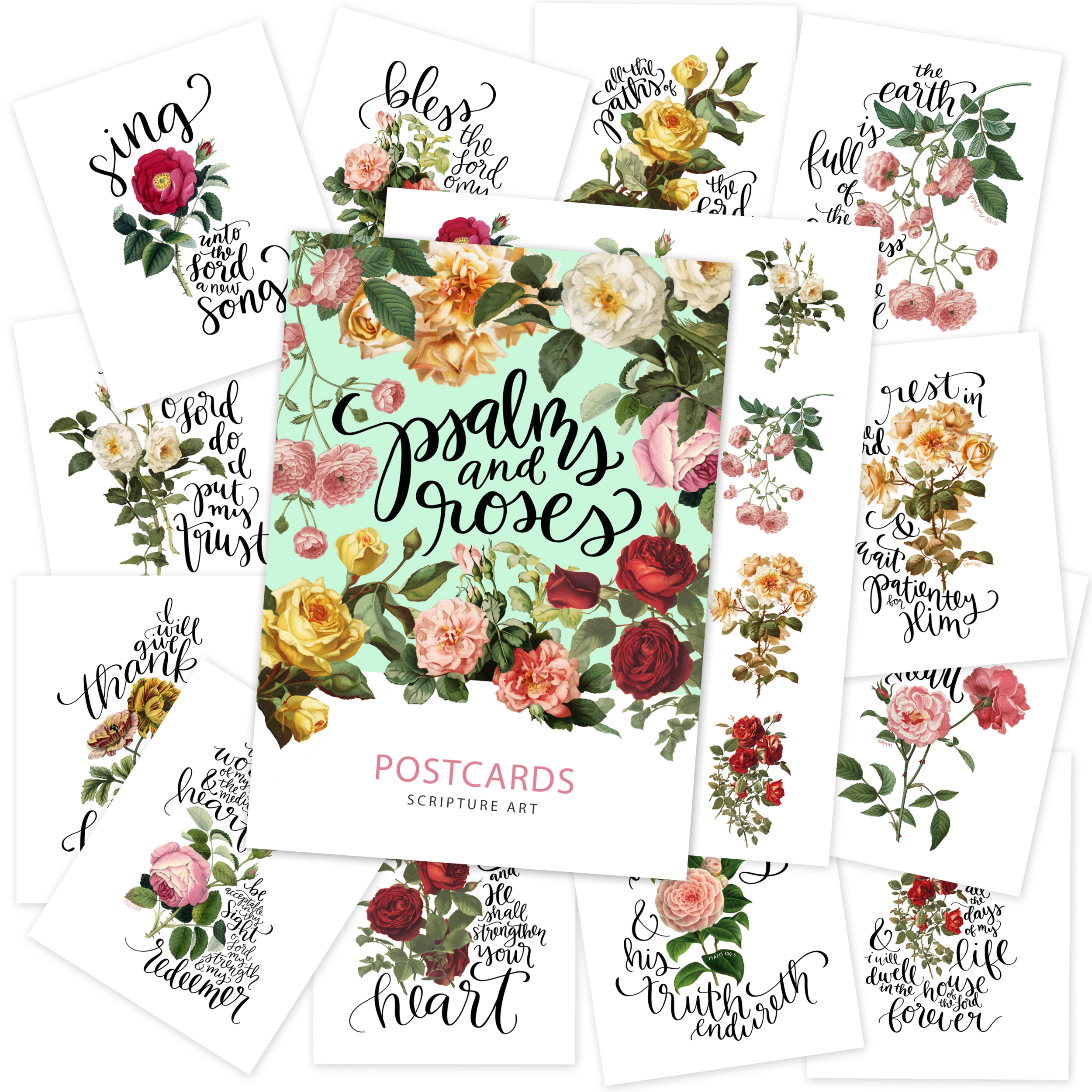 Printable Psalms Roses Postcards Stickers | Hope Ink.png