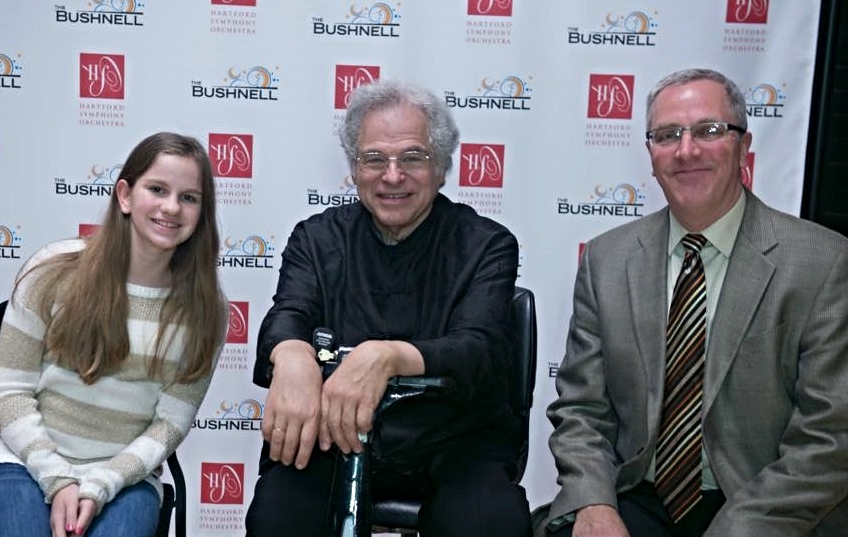 With Itzhak Perlman