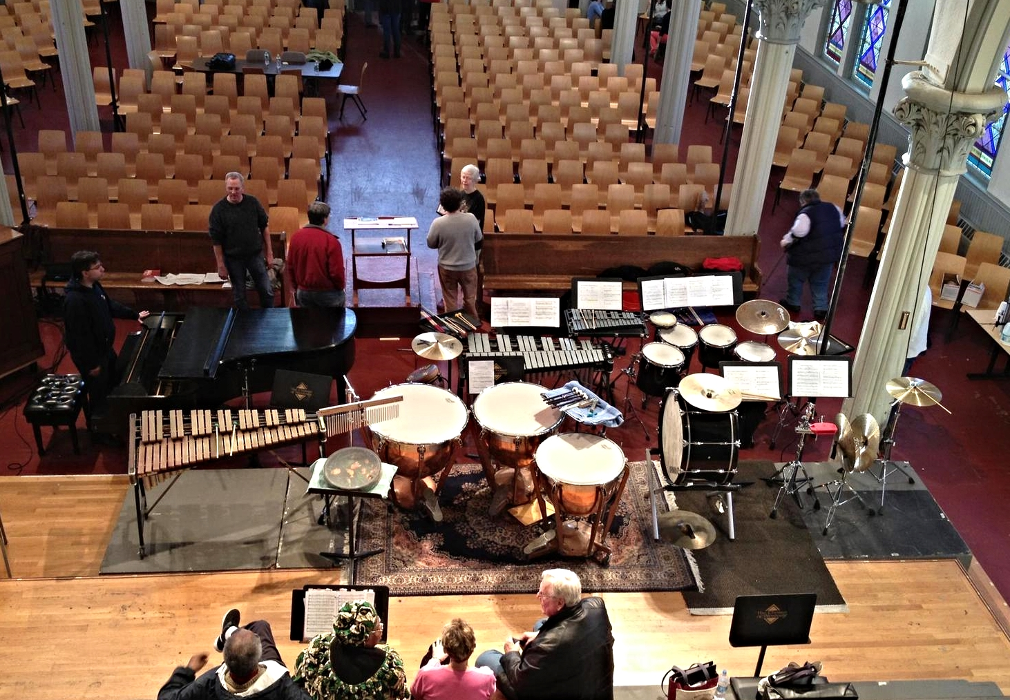 Percussion setup for 'Five New England Songs'
