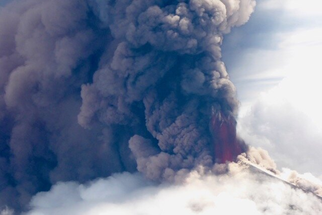 Eruption of Ulawun Volcano June 2019  Photo courtesy of Craig Powell