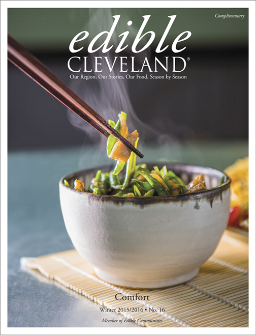 Edible Cleveland Cover.Winter 2016. -