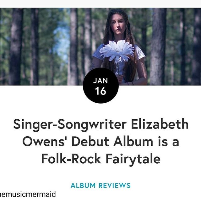 "Wow, One Thousand Hugs to @themusicmermaid for this kick-ass write-up of Coming of Age!! I am so incredibly grateful and blown away by how thoughtful and sincere this review is. I'm trying not to rely so heavily on external validation, but boy do these things help! Link in bio! #Repost • • • ""On their debut album, @elizabethowensmusic offers a collection so wildly one-of-a-kind that it demands thoughtful listening."""