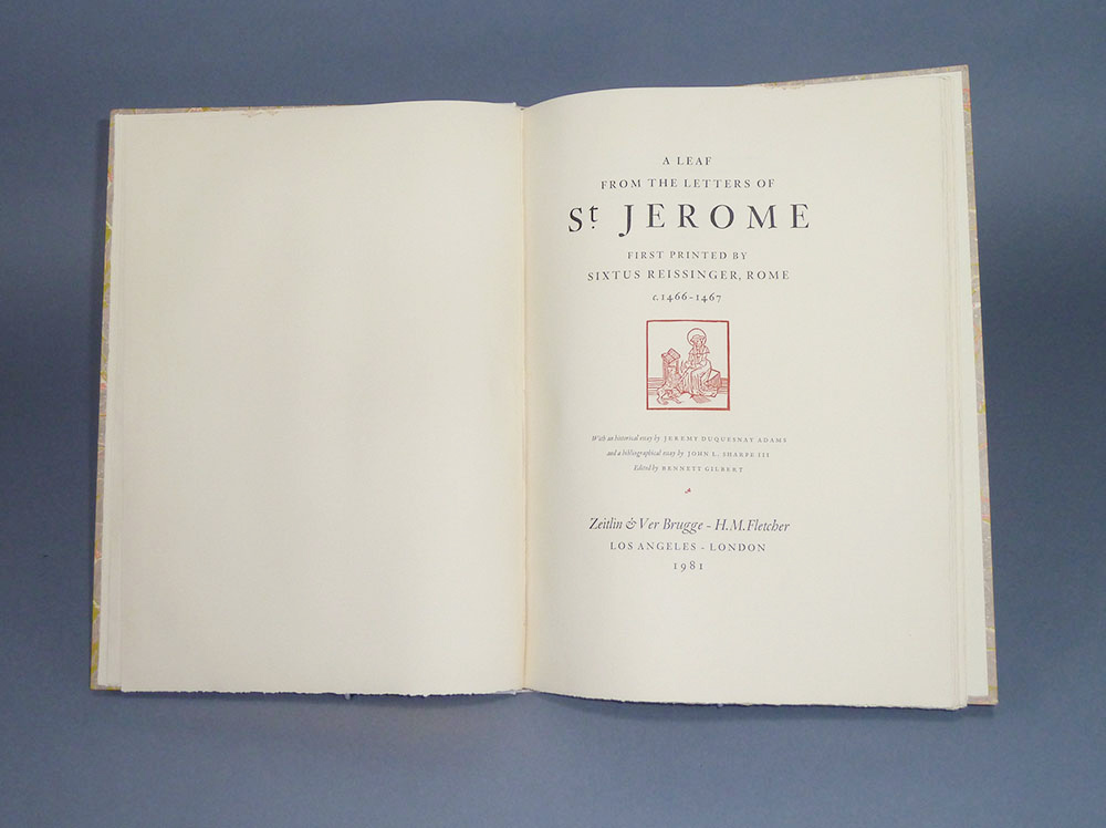 A Leaf from the Letters of St. Jerome