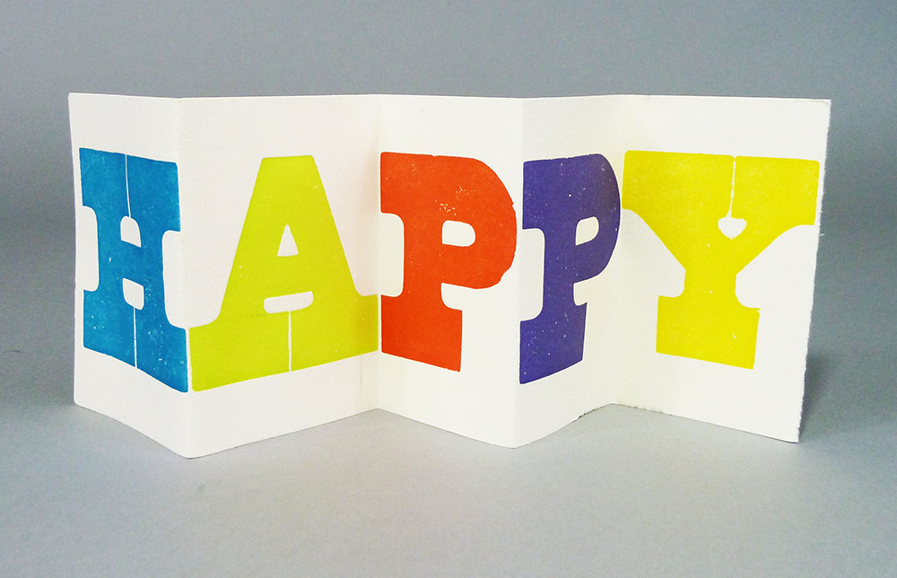 Happy . Holiday card, Patrick Reagh, 1995.