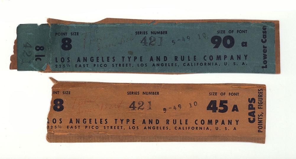 L A Type & Rule