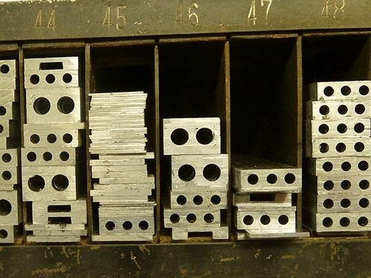 Material from 2–36 point. The Elrod machine at PRP has turned the shop into a regular strip joint. Strip material from 2–18 point is available from our  store.