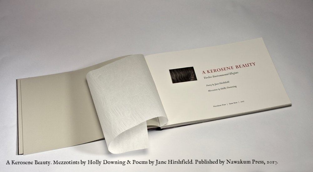 A Kerosene Beauty. Mezzotints by Holly Downing & poems by Jane Hirshfiled
