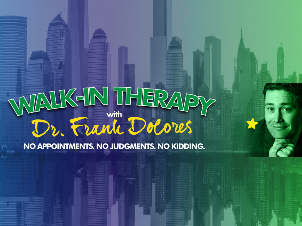 Walk-In Therapy - My shrink friend Dr. Frank Dolores counsels patients on the fly in this video series.