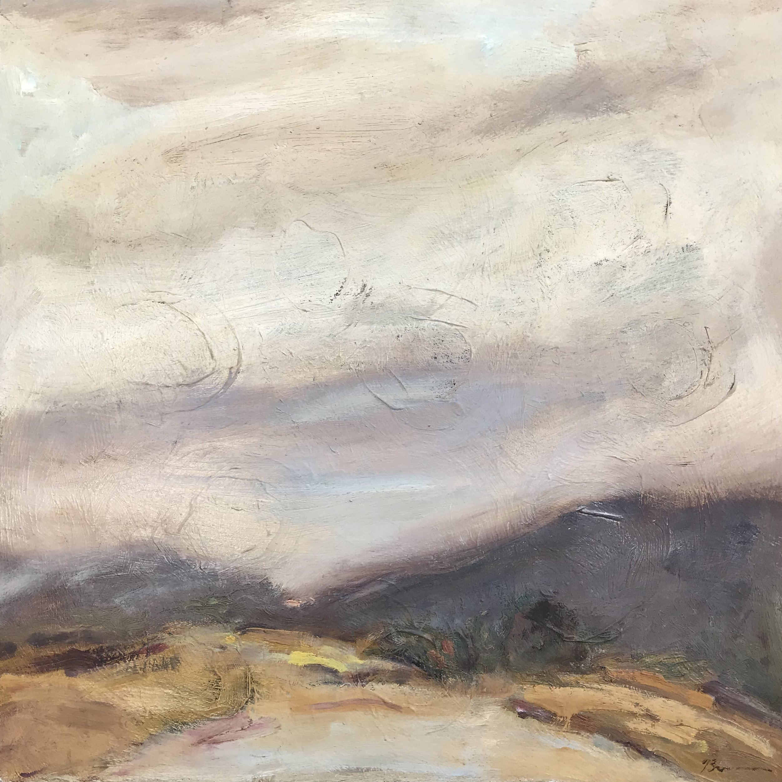 """""""Purple Mountain Tops"""" - 24"""" x 24"""", oil on canvasValue: $2,650Opening bid: $1,050email your bid to: art@bradfordbrenner.com"""
