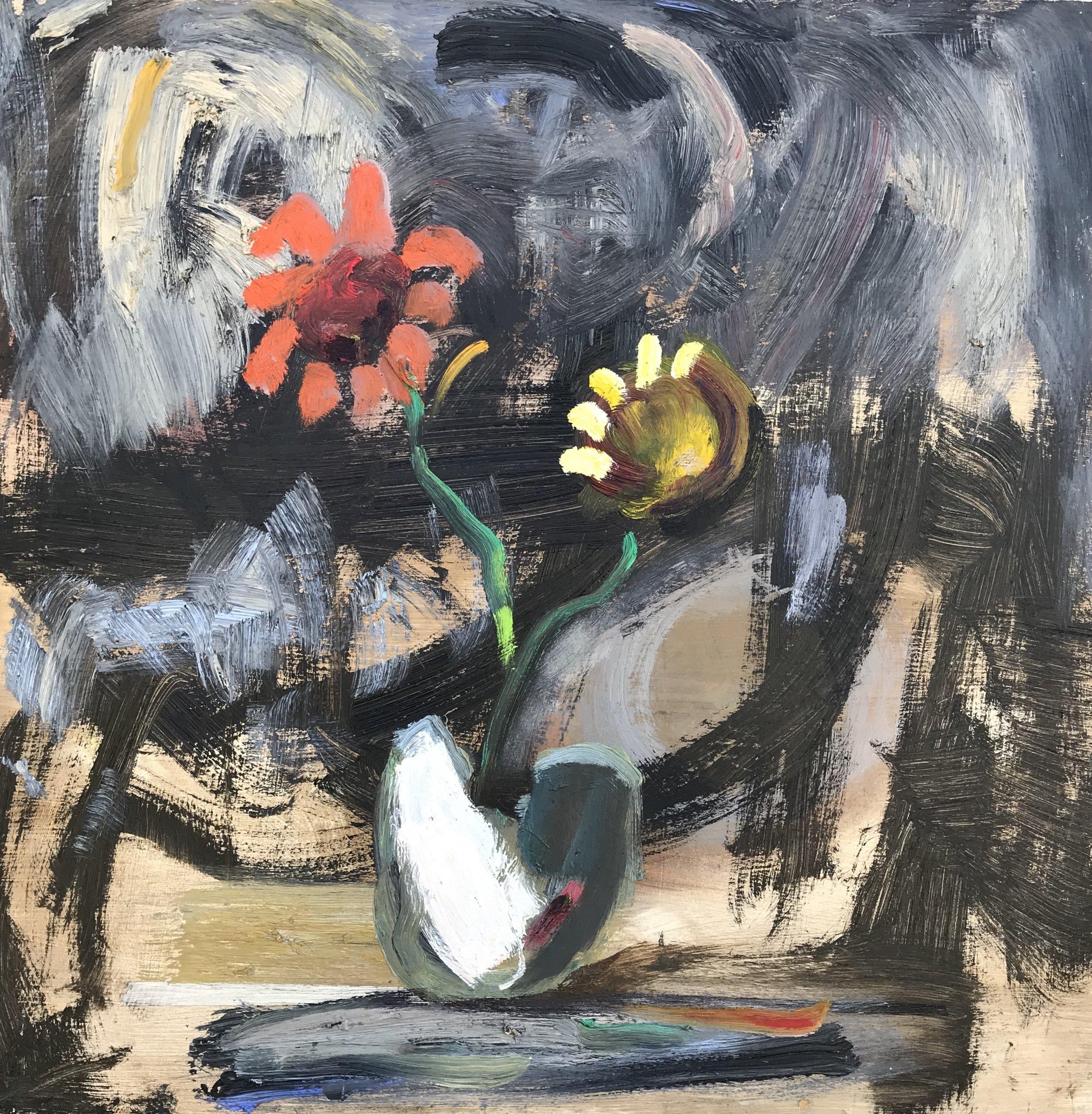"""Martini Haze"" - 24"" x 24"" x 3 3/4"", oil on panelValue: $2,650Opening bid: $1,050email your bid to: art@bradfordbrenner.com"