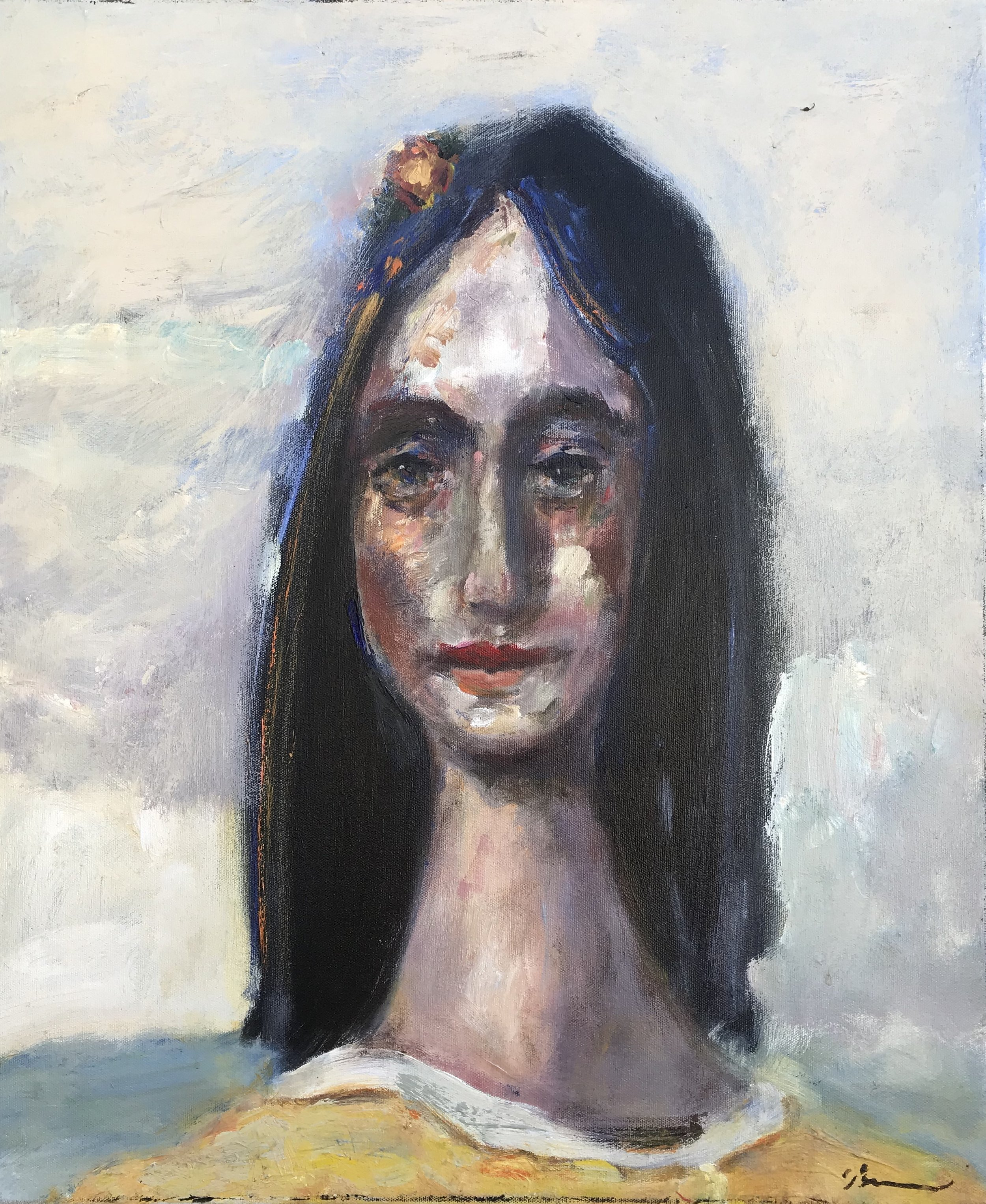 """""""Margaret Goes Out to Sea"""" - 24"""" x 20"""" x 3/4"""", oil on canvasValue: $2,300Opening bid: $900email your bid to: art@bradfordbrenner.com"""