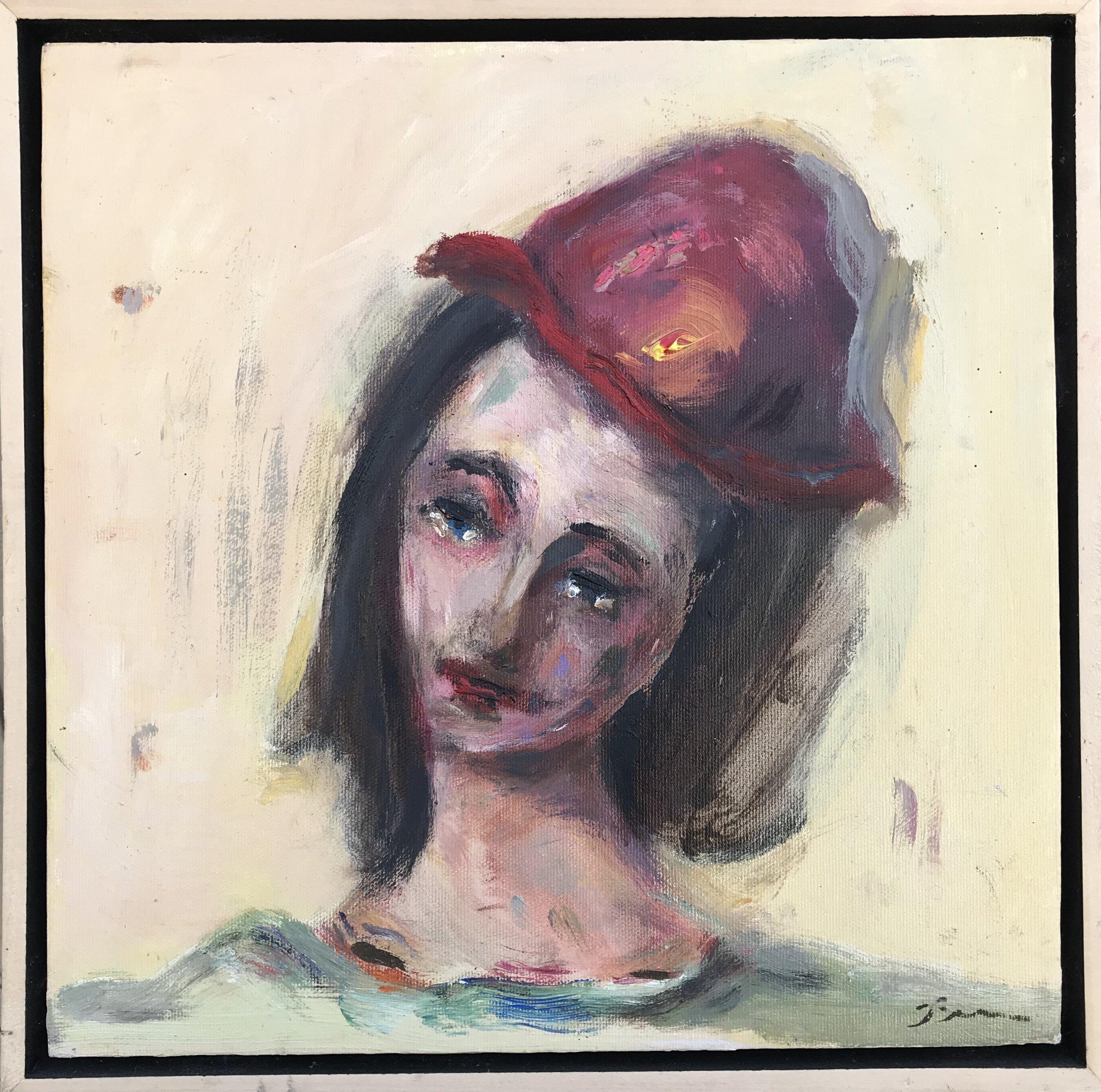 """Dixie"" - 12"" x 12"" in 2 1/2"" floater frameValue: $950Opening bid: $350email your bid to: art@bradfordbrenner.com"