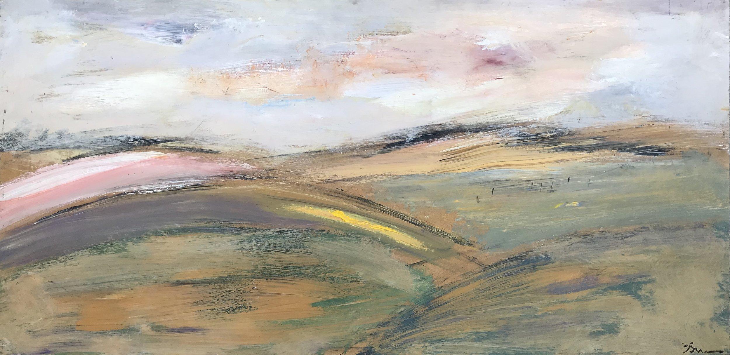 """Summer's Eve"" - 24"" x 48"" x 3 3/4"", oil on panelValue: $4,700Opening bid: $1,850email your bid to: art@bradfordbrenner.com"