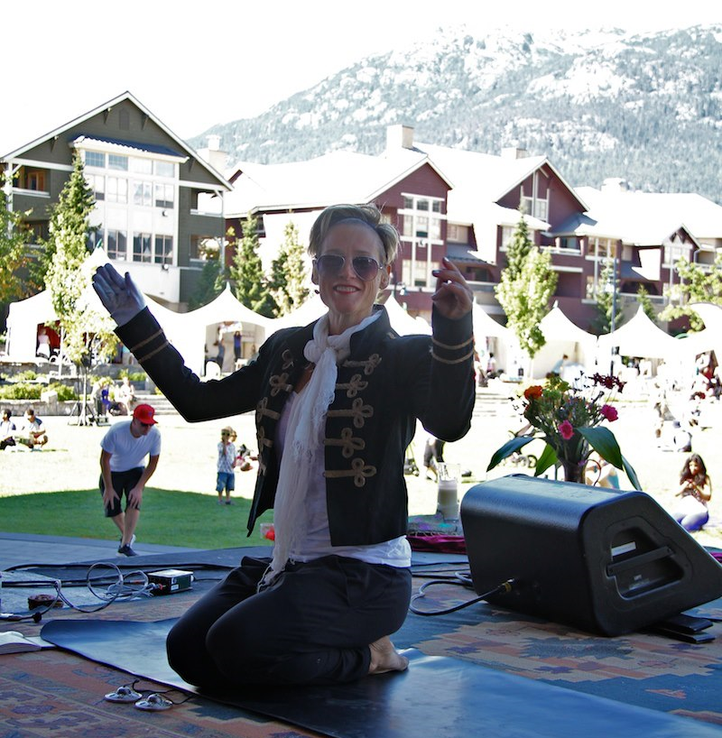 Maria taught an entire michael jackson yoga class at wanderlust whistler