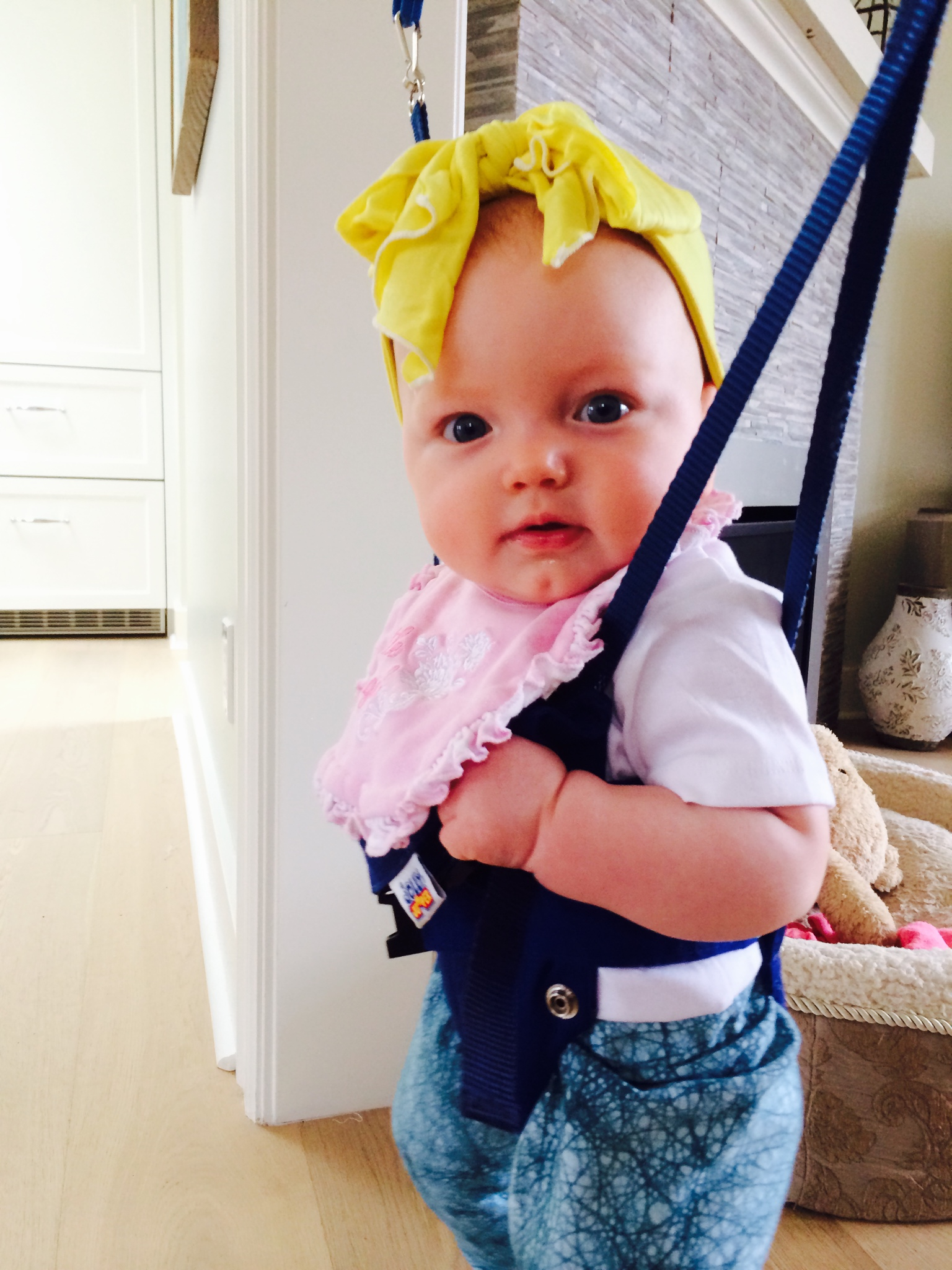 Turns out the HU headband is perfect (and so awesome) as a baby headband too!