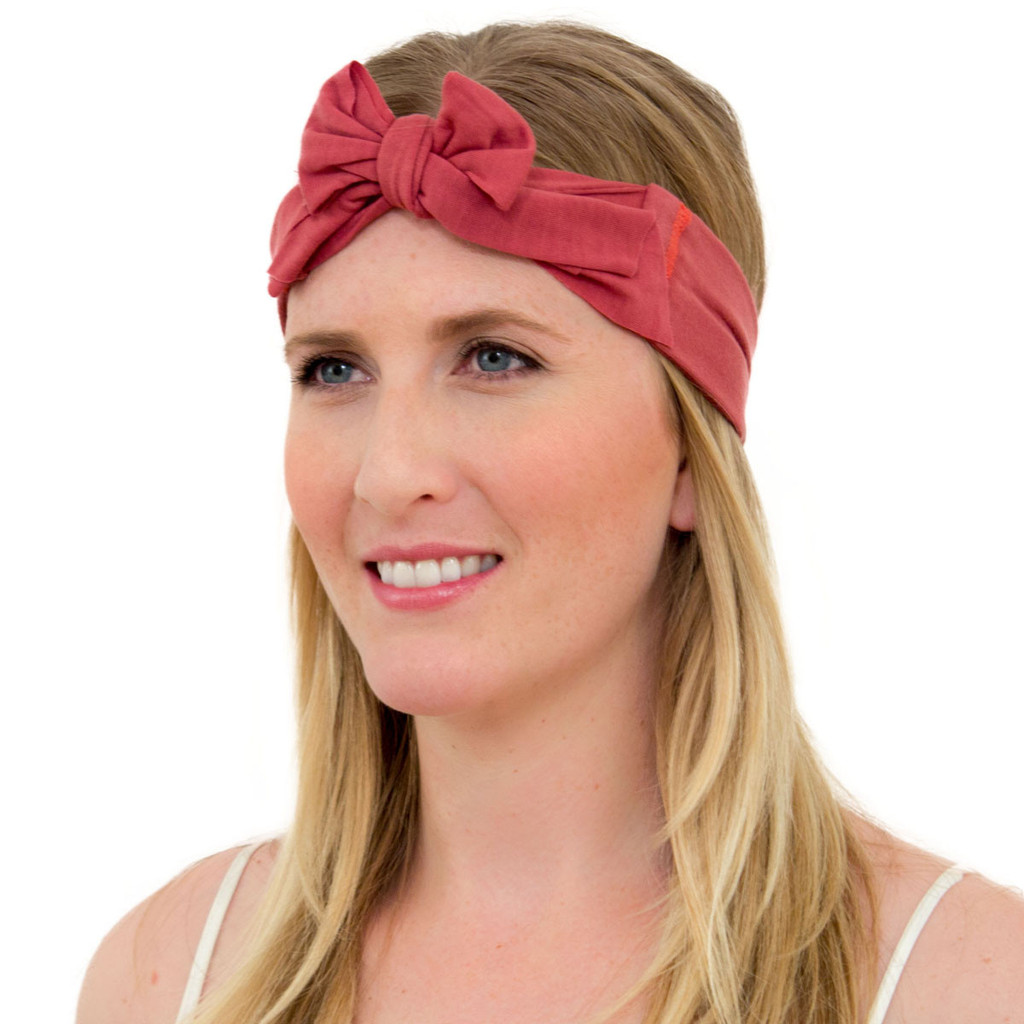 marsala headband with bow