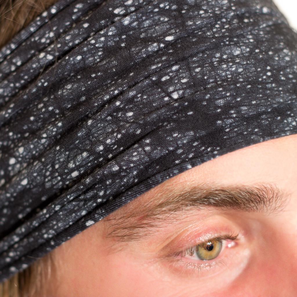 Hand dyed black headband for Men