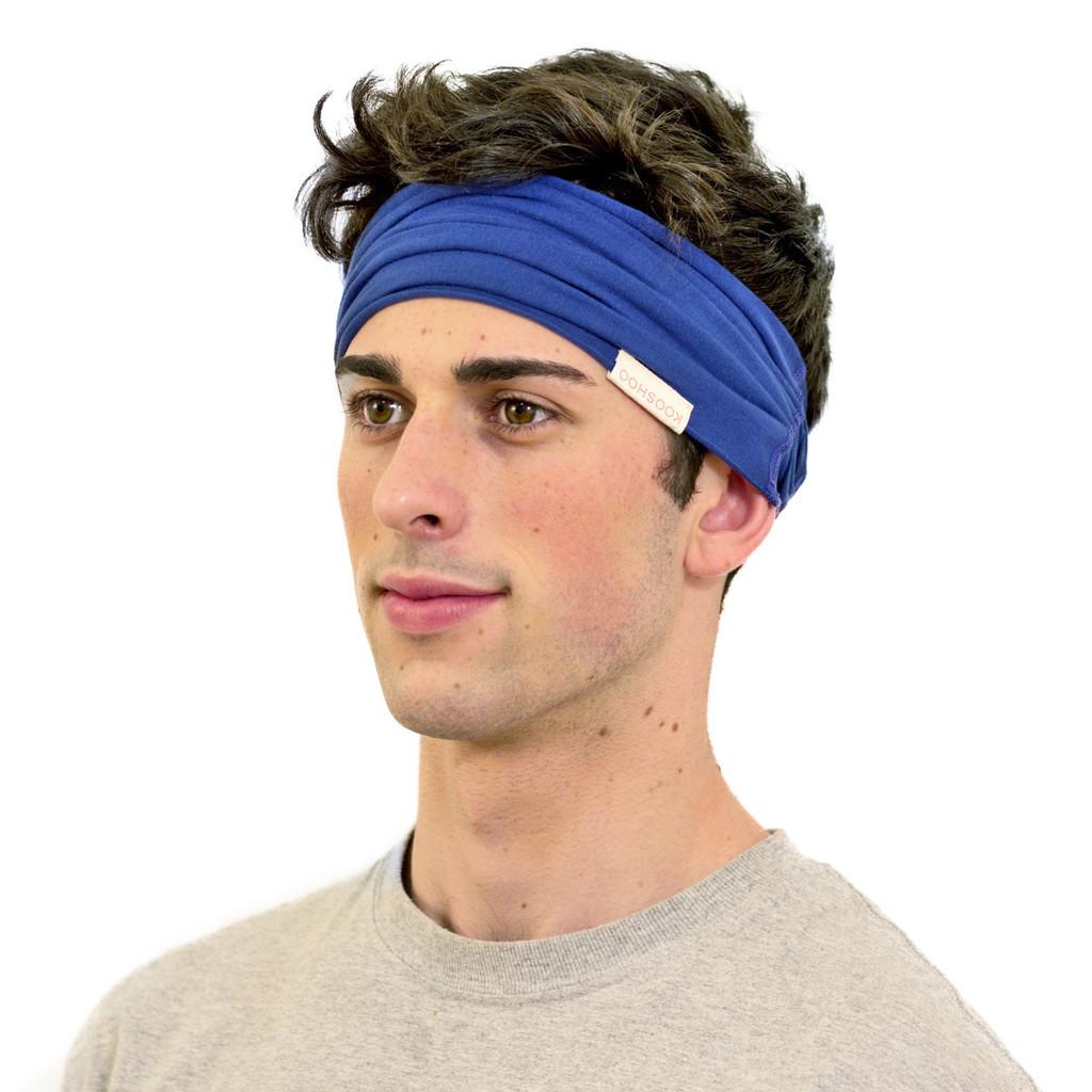Royal blue mens headband