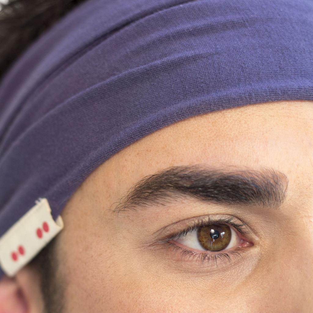 Navy Blue Headband for Men