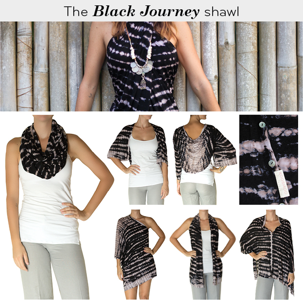 Black multi-way scarf