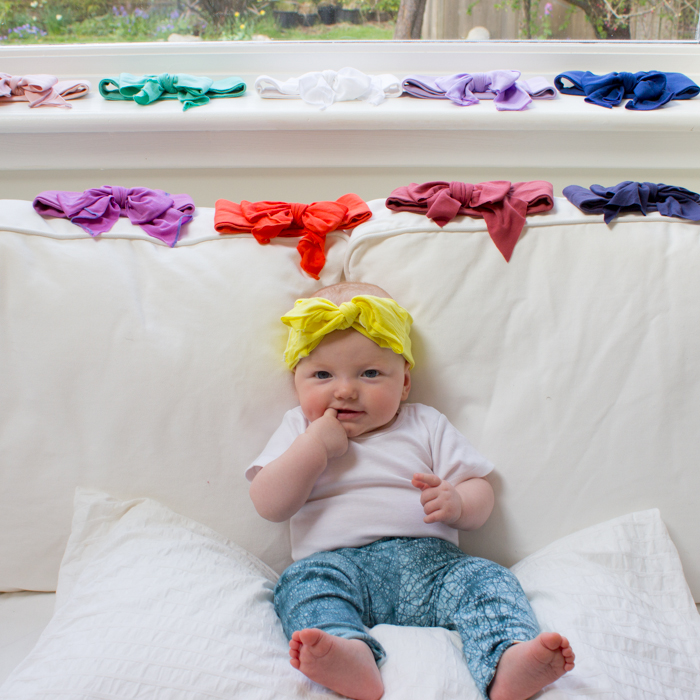 kooshoo`s organic cotton baby headbands -  available now in our etsy shop