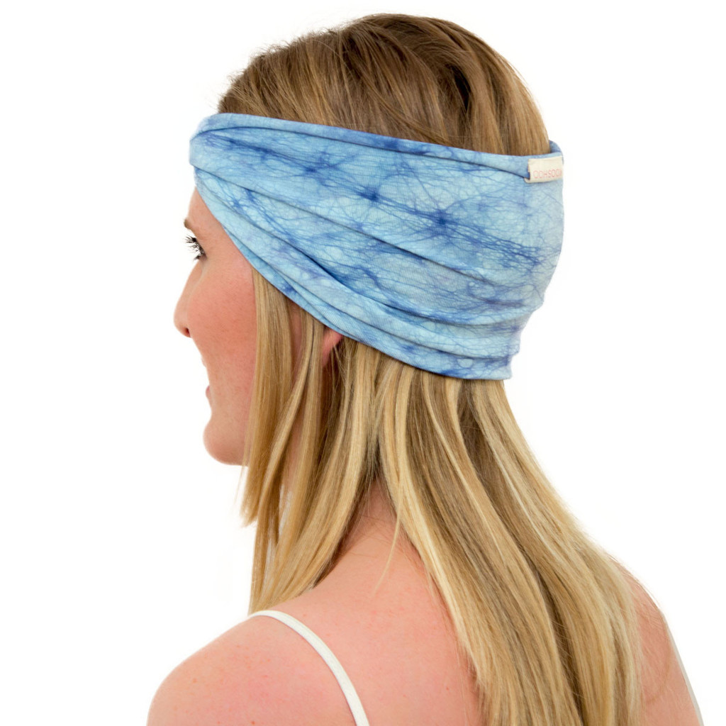 Sky blue headband - The ENSO Batik Ether Blue Headband by KOOSHOO