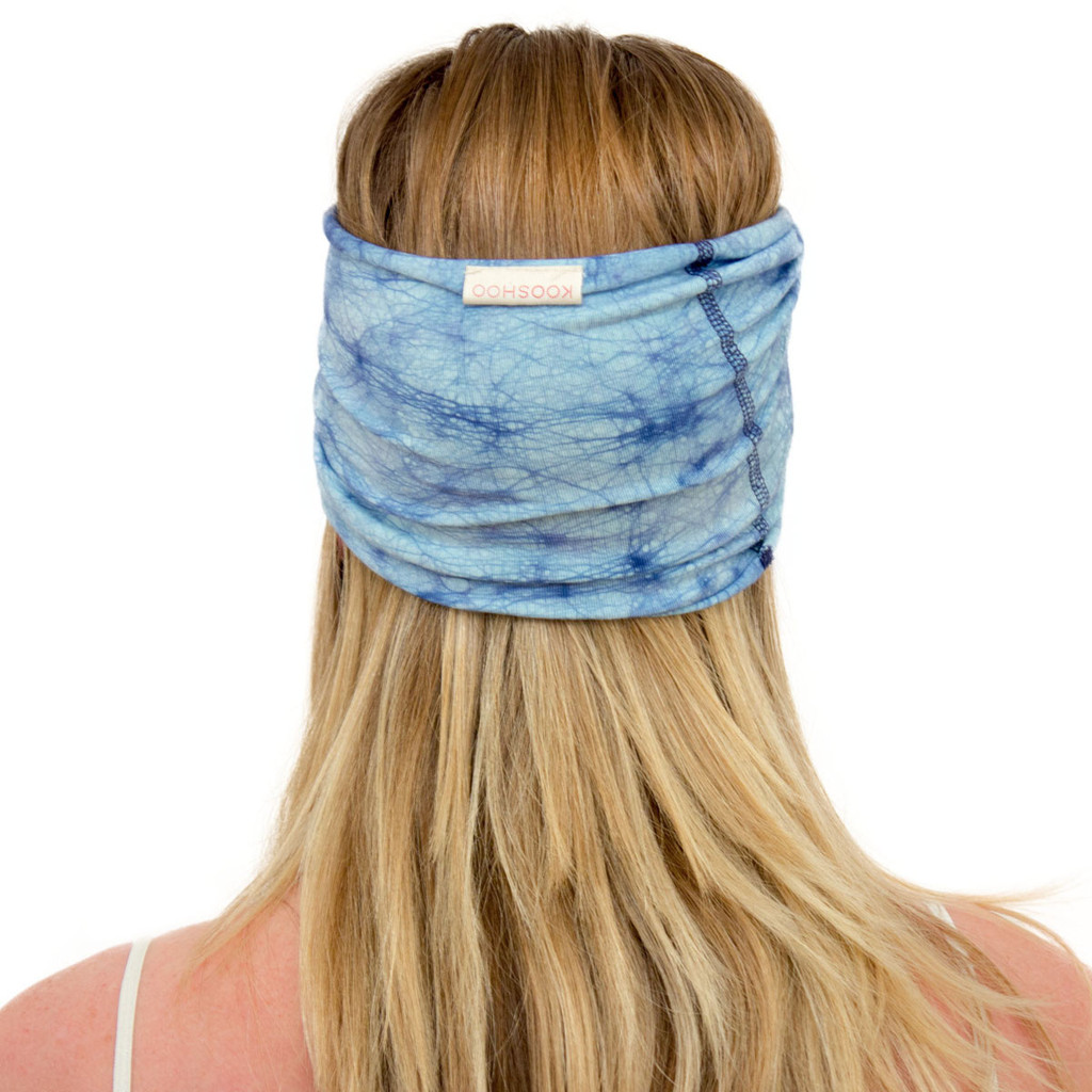 sky blue twist headband by KOOSHOO